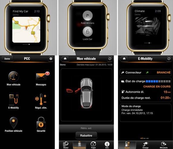 Porsche et Apple Watch