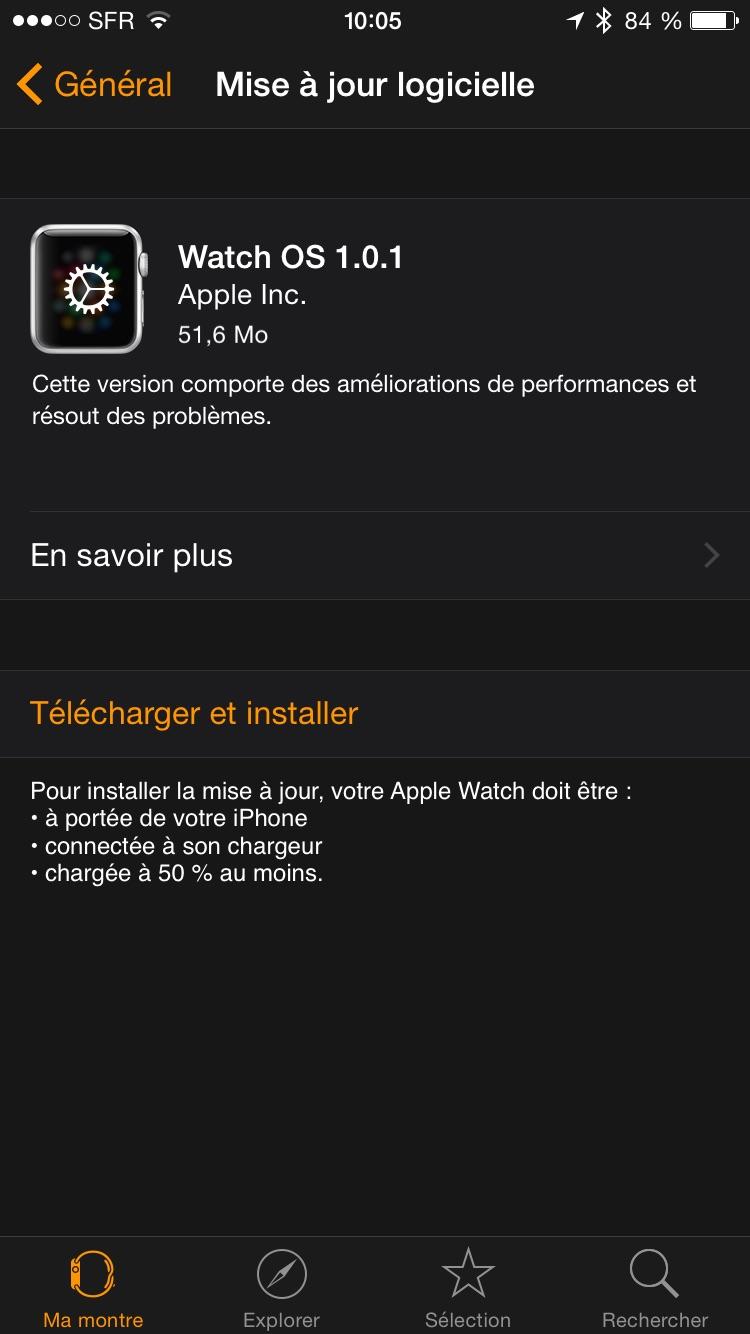 1 MAJ Apple Watch
