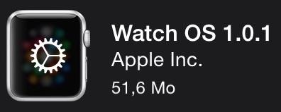Première Mise à jour pour l'Apple Watch