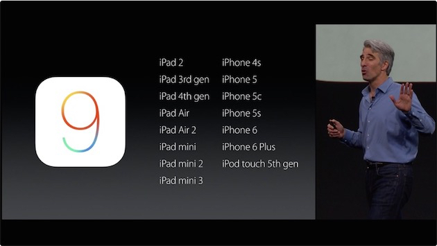 Modeles compatibles iOS9