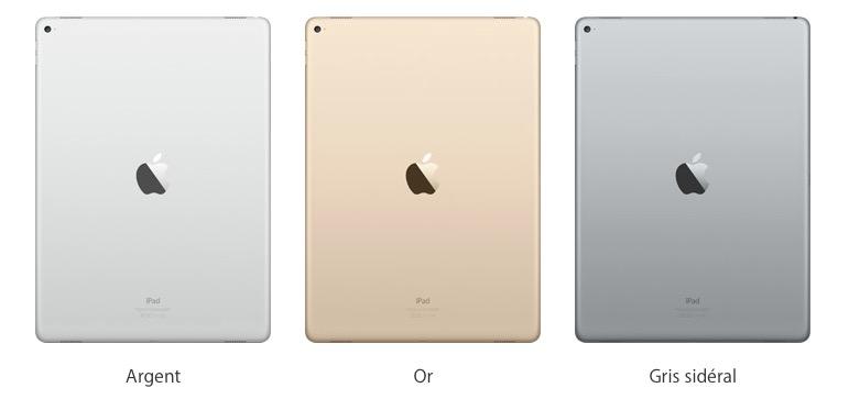 Couleurs iPad Pro