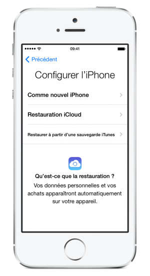 Sauvegarde iPhone