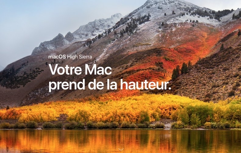 MAC OS SIERRA DISPONIBLE AUJOURD'HUI AVEC APFS